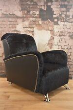 Art - Deco Retro Cinema Style Black Crushed Velvet Gaming Arm Chair