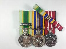 Set of 3 Australian Service Medal, Defence Long Service Defence Medals