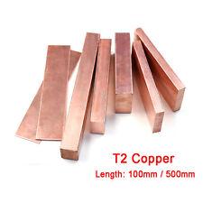 1 Stück 99,9/% reines Kupfer Cu Metallblock Kupfer Flachstab Elektrodenstange