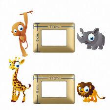 Adesivi Murali interruttori leone giraffa wall decal light switch animals 4 pz
