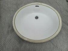 New listing Restoration Hardware 17inch White Vanity Basin