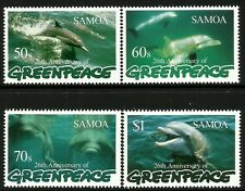 Samoa 1997 26th Anniversary of Greenpeace - Dolphins set of 4  MNH