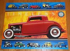 1932 FORD DEUCE V8 HOTROD 75TH ANNIVERSARY 1932-2007 TIMELESS MODEL A POSTER!