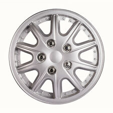"13""  Inch Hub Cap ABS Silver Rim Wheel Skin Cover Center 4 pcs Set Caps Covers"