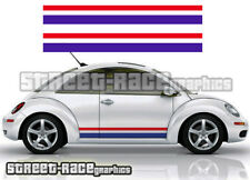 VW Volkswagen Beetle Herbie Side Racing Stripes 011 Graphique Stickers Autocollants