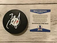 Cam Ward Signed Autographed Carolina Hurricanes Hockey Puck Beckett BAS COA a