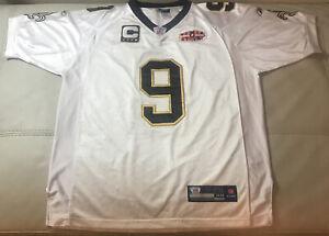 NWOT Reebok Authentic Sewn Drew Brees New Orleans Saints Super Bowl Jersey Sz 48