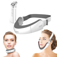 MS NECK Home Aesthetic Face Chin V LINE Massager Neck Anti Aging Ion Applicator
