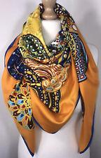 Designer Inspired Scarf Pashmina Orange Soft Feel Glamorous Oversized NEW