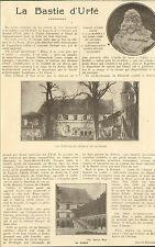 42 LA BASTIE HONORE D' URFE ARTICLE DE PRESSE PAR JOANNY-DURAND 1927