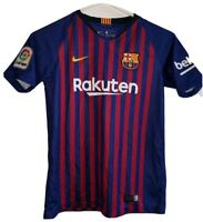Authentic Nike Barcelona Lionel Messi soccer jersey youth 2018 Small L Futbol