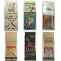 3 Full Feature & Printed Stick Matchbooks NY Copacabana Club Flamingo Stratfield