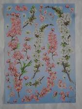 papier pour découpage technique serviette (thème: branches fleuries) 68X48cm