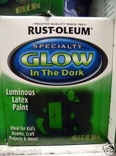 NEW 1/2 pint Rustoleum GLOW-IN-THE-DARK Latex Brush-On Interior Paint 7oz