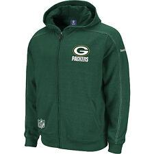 2011-12 Reebok Green Bay Packers Sideline Static Storm Hooded M Sweatshirt
