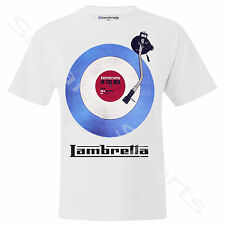 Lambretta Mens T-shirt Casual Shirt Tee S M L XL 4xl 5xl-with Tag in The Mix-white Small