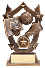 "nice basketball trophy or award, use for boys or girls, about 6"" tall new design"