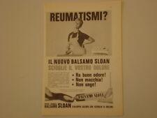 advertising Pubblicità 1961 BALSAMO SLOAN