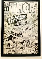Mighty Thor #132 by Jack Kirby 11x17 FRAMED Original Art Print Marvel Comics Pos