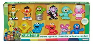 NEW SESAME STREET DELUXE FIGURE SET*11 CHARACTERS*BIG BIRD*ELMO*OSCAR & MORE