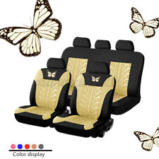Beige Car Seat Cover Protectors Universal Washable Dog Pet Full Set Front Rear