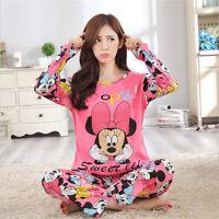 Women's Cotton sleepwear long sleeve pajamas sets Character printing Home Suit