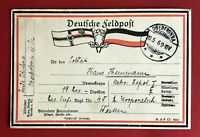 Militär AK OBERFROHNA bei Limbach 1. WK 1916 Patriotika Feldpost Stempel ( 63565