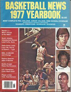 1977 Basketball News Yearbook, Julius Erving Dr. J New York Nets Alvan Adams VG