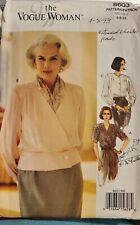 Vogue Woman pattern 8603 Misses' Blouse with front tucks size 6, 8, 10 uncut