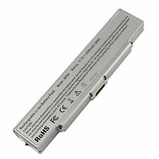 Battery for Sony Vaio VGN-AR VGN-CR VGN-NR VGP-BPS9/B VGP-BPS9/S silver 6 Cell