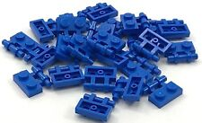 Lego 25 New Blue Plates Modified 1 x 2 with Handle on Side Free Ends