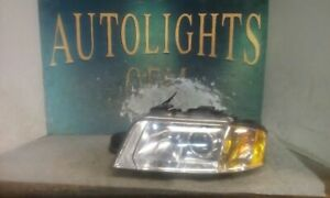 Nice Driver Headlight 8 Cylinder Xenon HID Fits 02-04 AUDI A6 35382