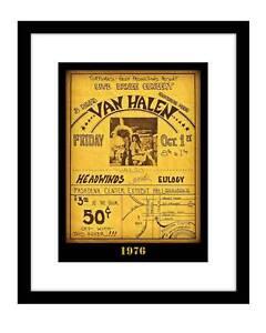Van Halen 8x10 photo print concert poster 1976 David Lee Roth rock