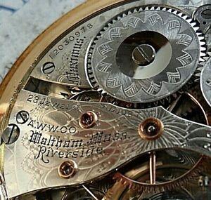 114.2 Gram Solid 14k Gold Antique 1902 Waltham 23J Maximus 16S O/F Pocket Watch