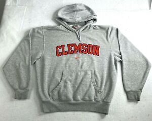 Small Nike Gray Embroidered Clemson Spelled Out Hoodie