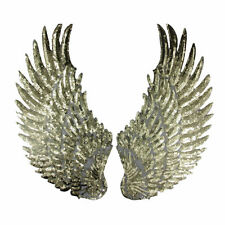 1 pair Embroidered iron on patches for clothes Wings sequins DIY Motif Applique