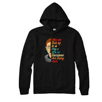 Notorious RBG Hoodie, Ruth Feminists Women Belong In All Place.. Quote Gift Top