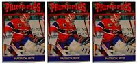 (3) 1992 Prime Pics #61 Patrick Roy Hockey Card Lot Montreal Canadiens