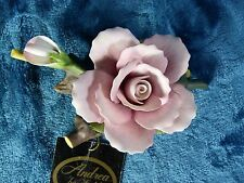 Andrea by Sadek Porcelain Rose Flower with Rosebud Vintage