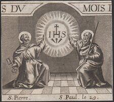 HL. petrus + saint paul-st pierre + paul-san petro + paolo-cuivre clés 18.jh.