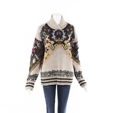 Etro 2019 Paisley Intarsia Wool Sweater SZ 44