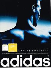 PUBLICITE ADVERTISING 124  1992  ADIDAS   eau de toilette pour homme