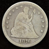 1876 Liberty Seated Quarter, Very Good Condition, Silver, Free Ship, C4401