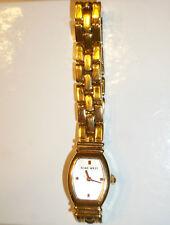 Nine West Ladies Watch Gold Tone Link Bracelet New Battery Installed