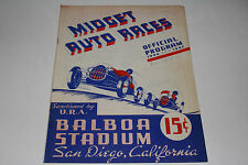 Midget Auto Races Program, San Diego Balboa Stadium, Dec 15 1946, Original