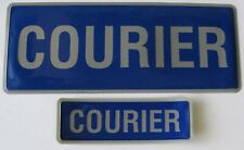 More details for encapsulated reflective courier badge set in blue and silver
