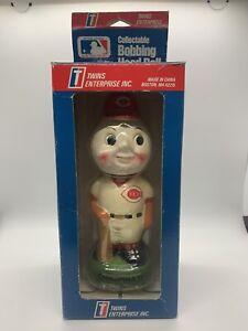 1990 Cincinnati Reds Mr Redlegs TEI Twins Enterprise Bobblehead Nodder