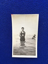 GAY INTEREST vintage PHOTO male BEACH bathing beauties TRUNK suits SWIM snapshot