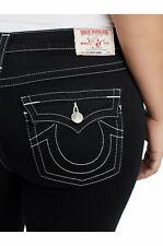 True Religion Women's Super Skinny Contour Stretch Jeans in Body Rinse Black