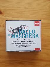 Verdi: Un ballo in maschera. Domingo, Arroyo, Cappuccilli, Cossotto, Muti. 2 CDs